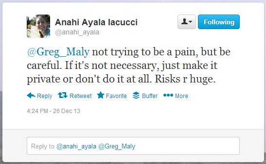 Tweet by Anahi