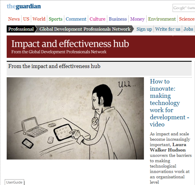 TechChange animation video in The Guardian
