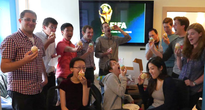 World Cup games and cupcakes at TechChange