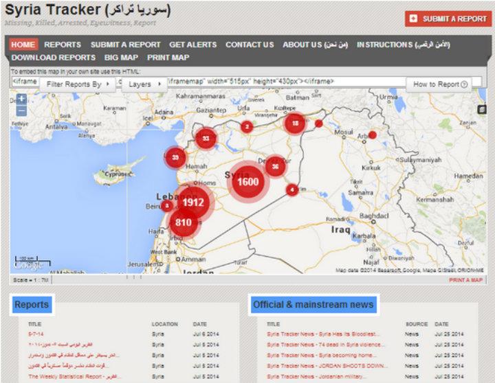 Syria Tracker Crisis