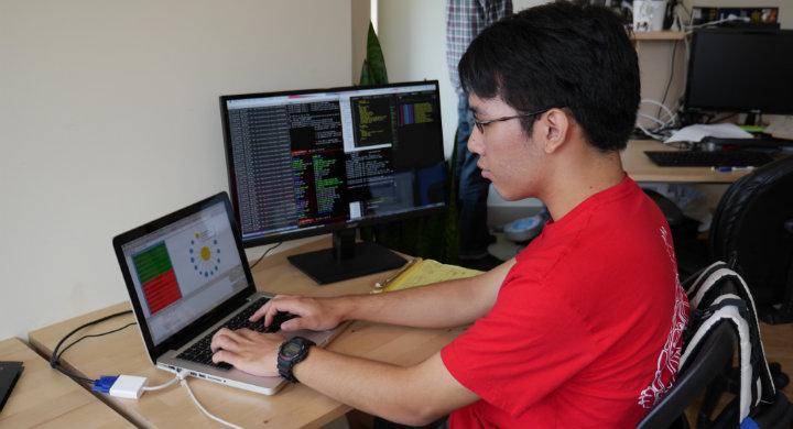 Sean Bae coding D3 data visualization