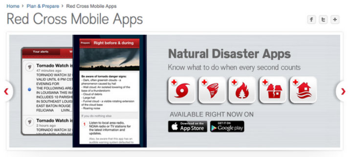 American Red Cross mobile app