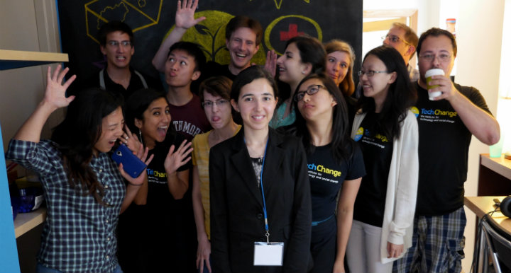 The TechChange Team with the 2014 TechGirls during the Job Shadow Day visit