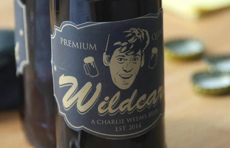 Charlie's birthday gift from the TechChange team: a personalized beer label for his home brews