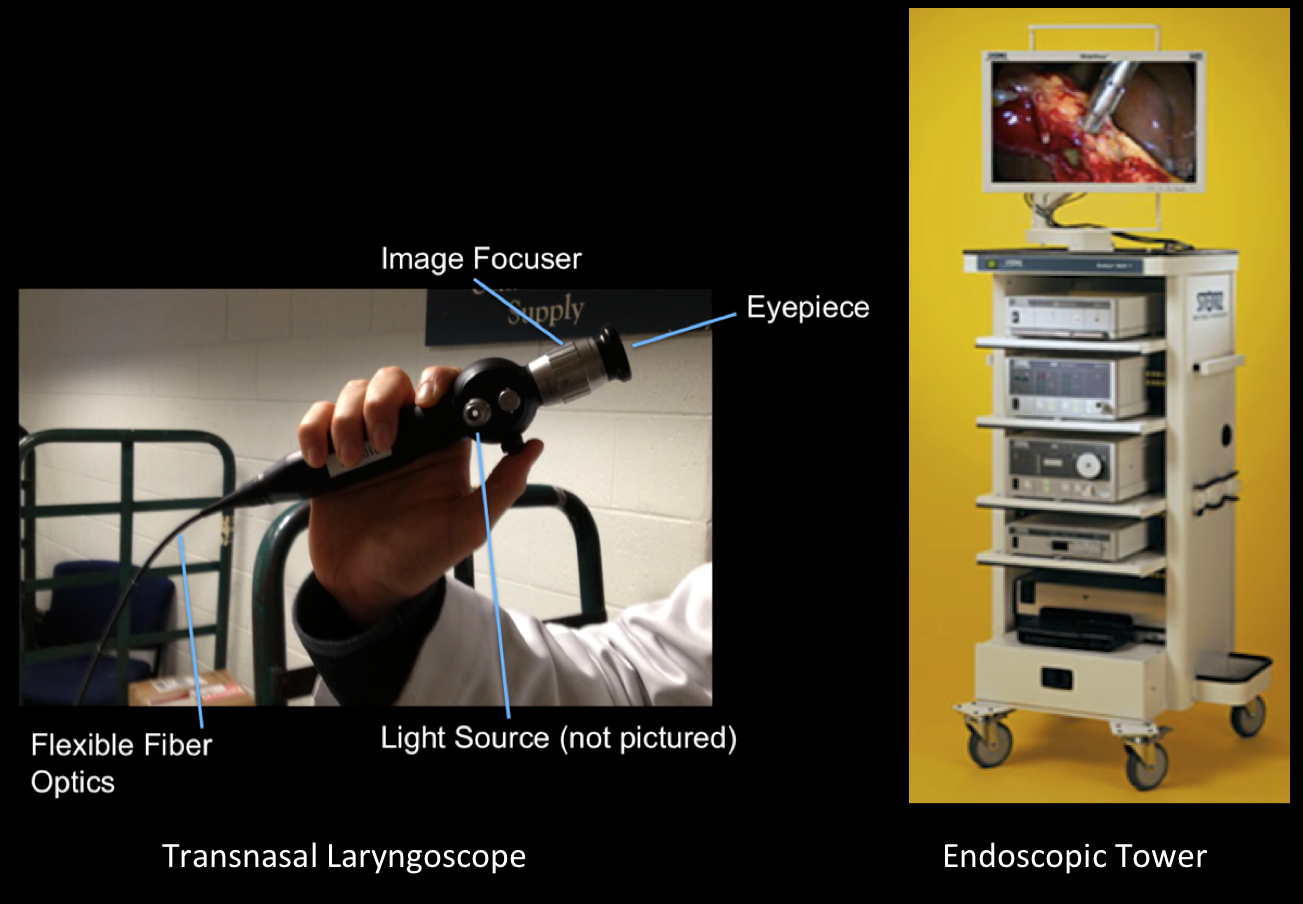 Laryngoscope and Endoscopic Tower