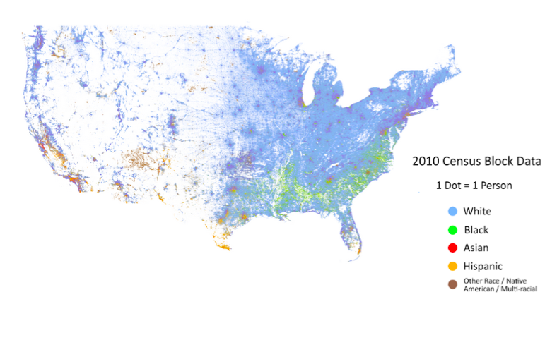 Cooper Center's Racial Dot Map of the US