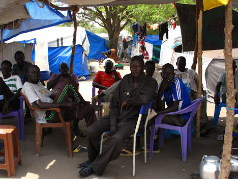 Men in IDP camps in South Sudan
