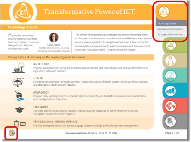 Screenshot of ICT4D Report